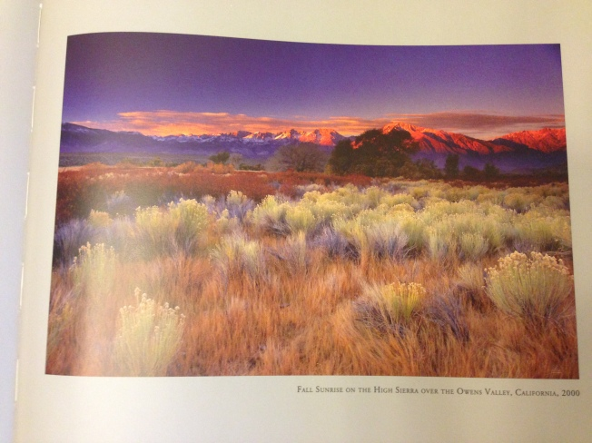 "Fall Sunrise on the High Sierra Over the Owens Valley from ""Galen Rowell, A Retrospective,"" Sierra Club Books."
