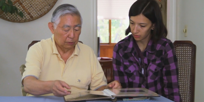 Hiro and Keiko during filming, 2010.